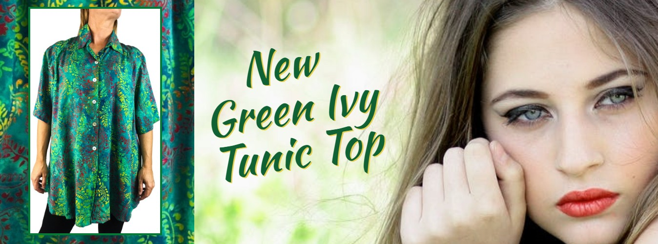 Green Ivy Tunic Top