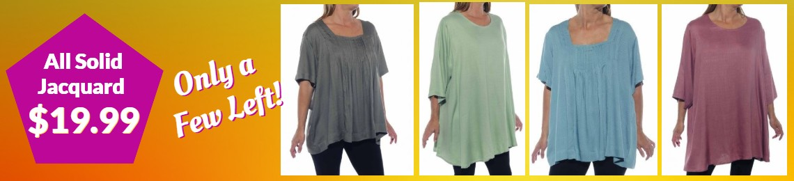 Women's Plus size discounted blouses, tops
