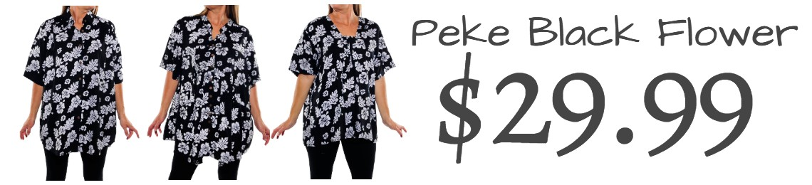 Peke Flower black SALE