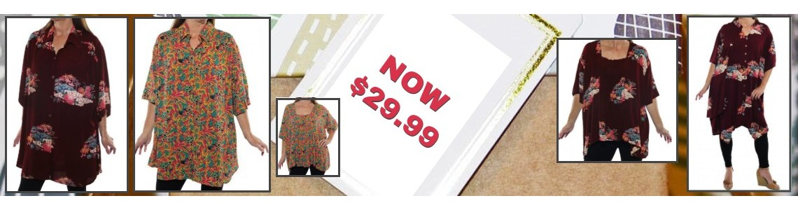 Women's plus size discounted blouses and tops