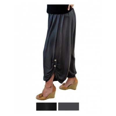 Solid CRINKLE RAYON or FLAT RAYON Berkeley Pant