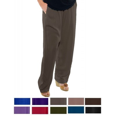 Solid CRINKLE RAYON or FLAT RAYON Easy Pant