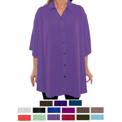 Solid CRINKLE RAYON or FLAT RAYON New Tunic Top