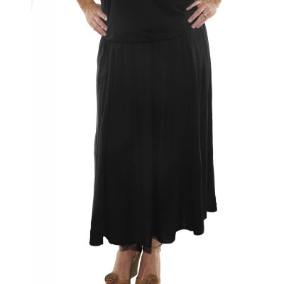 Solid Black CRINKLE RAYON or FLAT RAYON Aline Skirt