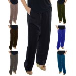 Solid CRINKLE RAYON Easy Pant