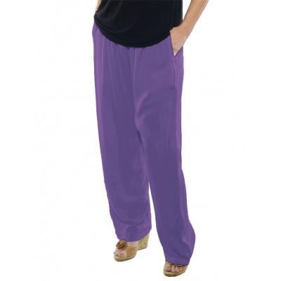 Solid Dusty Lilac CRINKLE RAYON or FLAT RAYON Easy Pant