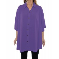 Solid DUSTY LILAC Crinkle Rayon New Tunic Top