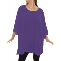 Solid DUSTY LILAC Crinkle Rayon Swing Top