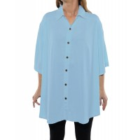 Solid POWDER BLUE Crinkle Rayon New Tunic Top