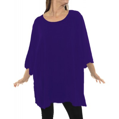 Solid Purple CRINKLE RAYON or FLAT RAYON Swing Top