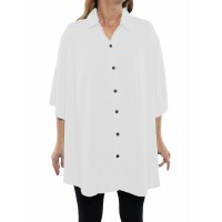 Solid WHITE Crinkle Rayon New Tunic Top