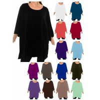Solid CRINKLE RAYON or FLAT RAYON Swing Top