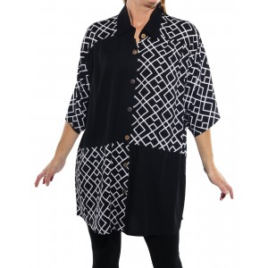 Canyon Black COMBO New Tunic Top