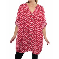 Canyon Red Katherine Blouse