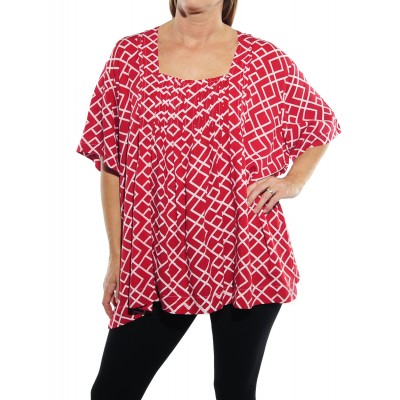 Canyon Red Maxine Blouse