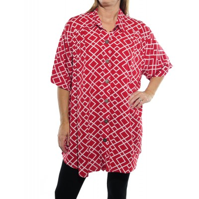 Canyon Red New Tunic Top