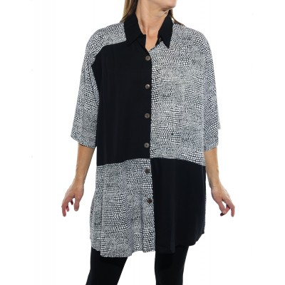 Croc Black COMBO New Tunic Top