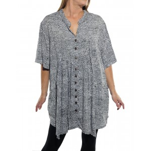 Croc Black Kirsten Blouse 0x only
