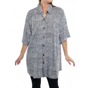 Croc Black New Tunic Top