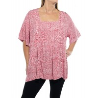 Croc Red Maxine Blouse