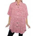 Croc Red New Tunic Top