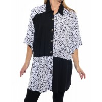 Tahiti Black COMBO New Tunic Top