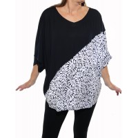 Tahiti Black COMBO Shell Top