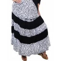 Tahiti Black COMBO Tiered Skirt