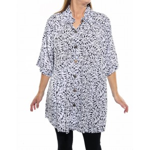 Tahiti Black New Tunic Top