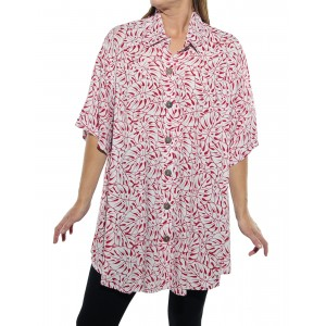 Tahiti Red New Tunic Top