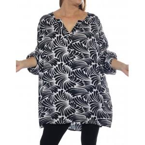 Sea of Wings Black Ashley Blouse