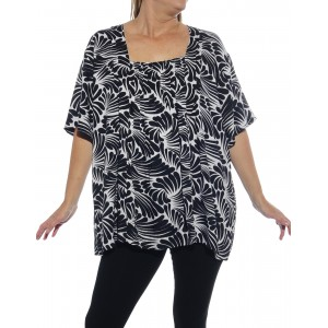 Sea of Wings Black Maxine Blouse