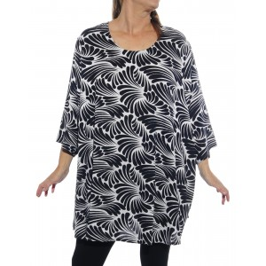 Sea of Wings Black Swing Top