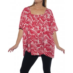 Sea of Wings Red Maxine Blouse