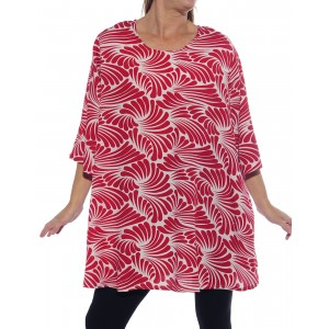 Sea of Wings Red Swing Top