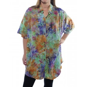 Bali Burst Multi New Tunic Top