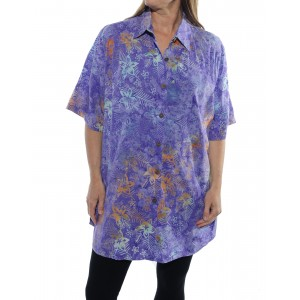 Bali Burst Purple New Tunic Top