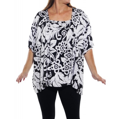 Big Flower Maxine Blouse