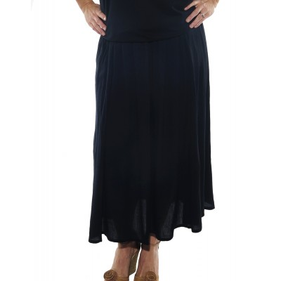 Solid Charcoal Blue Aline Skirt