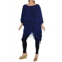 Harp Strings Blue Caftan Top