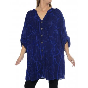 Harp Strings Blue Katherine Blouse