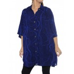 Harp Strings Blue New Tunic Top