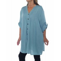 Jacquard Dusty Blue Katherine Blouse