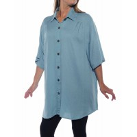 Jacquard Dusty Blue New Tunic Top