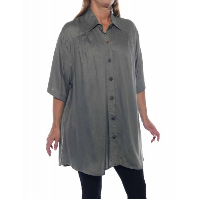 Solid Grey Jacquard New Tunic Top