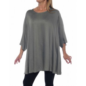 Jacquard Grey Swing Top