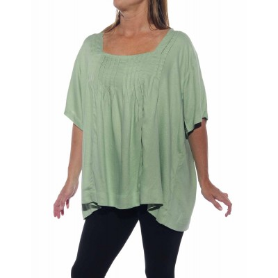 Solid Mint Jacquard Maxine Blouse