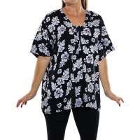 Peke Flower Black Jessica Blouse