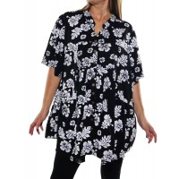 Peke Flower Black Kirsten Blouse
