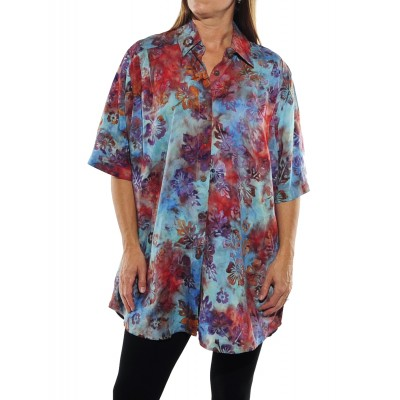 Peke Flower Sunset New Tunic Top